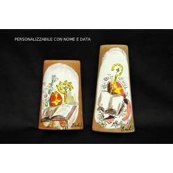Tegola terracotta con immagine dipinta a mano PERSONALIZZABILE cm.10/13