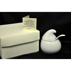 Zuccheriera porcellana SOLIDALE con scatola