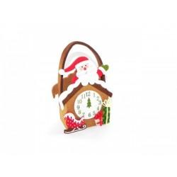 Cestino pannolenci con Babbo Natale 14x7 H 19
