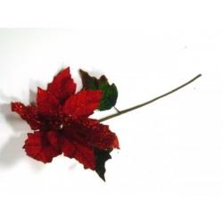Stella natale vellutata rossa con paillettes h.70 diam.27