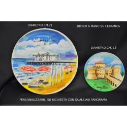 Piatto ceramica dipinto a mano PERSONALIZZABILE diam. 21 cm