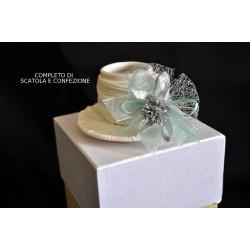 Tazza porcellana opaca completa di scatola e confezione natalizia