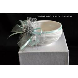 Ciotola porcellana opaca completa di confezione natalizia e scatola