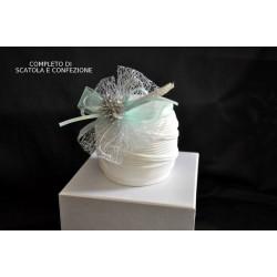Zuccheriera porcellana bianca opaca completa di scatola e confezione natalizia