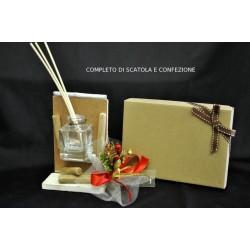 Profumatore con base legno completo di confezione natalizia e scatola