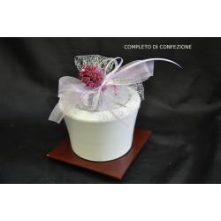 Zuccheriera ceramica lucida completa di confezione natalizia