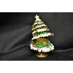 Albero di Natale in metallo smaltato con apertura H 8 diam. 6