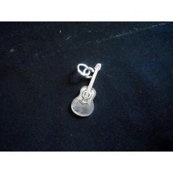 Ciondolo chitarra in ottone con bagno in argento CM 3. MADE IN ITALY
