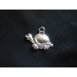 Ciondolo tartaruga in ottone con bagno in argento CM 3.8 MADE IN ITALY