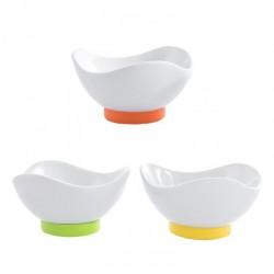 Set 3 ciotoline ceramica con base silicone  CM 9