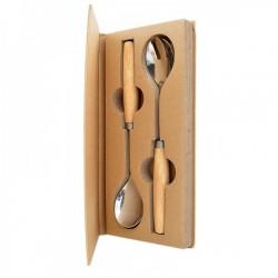 Set forchetta e cucchiaio da insalata con box