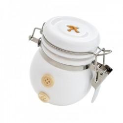 Barattolino ceramica con chiusura ermetica H 7