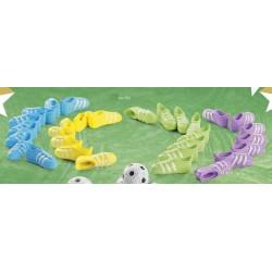 Scarpette da calcio in plastica ass. 4 colori CM 3