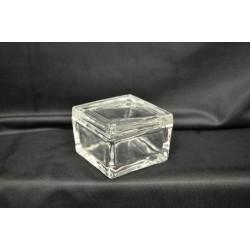 Scatola fondo e coperchio in vetro 7x7x5
