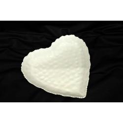 Piatto cuore metallo bianco 16x16