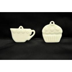 Tazzina  in ceramica con passante CM. 5