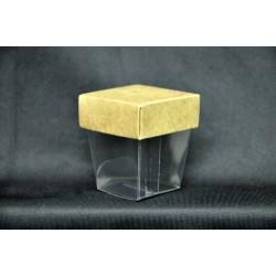 Bicchierino pvc con coperchio cartoncino 4x4 H 4.5