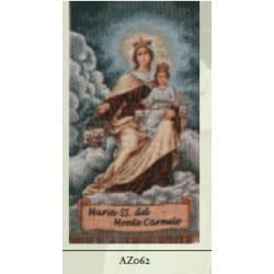 ARAZZINO 30X23 CM MADONNA DEL CARMELO