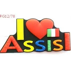 CALAMITA PVC I  LOVE ASSISI CM 8