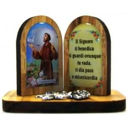 DITTICO LEGNO S.F.+PREGHIERA 5,5 CM