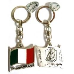 PORTACHIAVI BANDIERA ITALIA/ASSISI  -367-