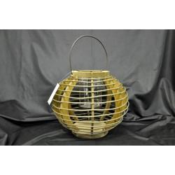 Lanterna metallo e legno Diam. Max 29 H 40