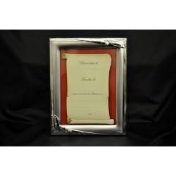 Portafoto argento laurea con dedica 13x18