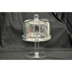 Potiche vetro con coperchio Diam. 16 H 24