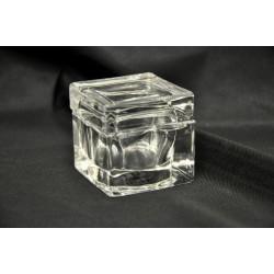 Scatola vetro fondo e coperchio 5x5x5