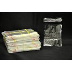 Pacco 1000 bustine trasparenti con patella adesiva. CM 6x10