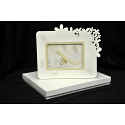 Portafoto traforo fiori 6x9 (misura interna) con scatola