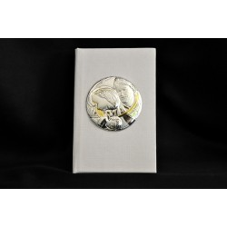 Vangelo panna con placca argento Sacra Famiglia 11x7