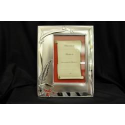 Portafoto argento per laurea con dedica 10x15