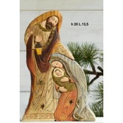 Sacra famiglia incastro in resina h.20 L.13,5
