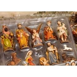 Set 11 personaggi principali presepe in resina H 9