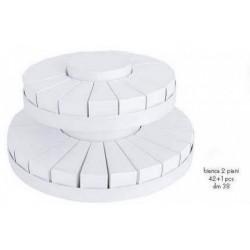 Torta da 42 fette + centrale a due piani bianca