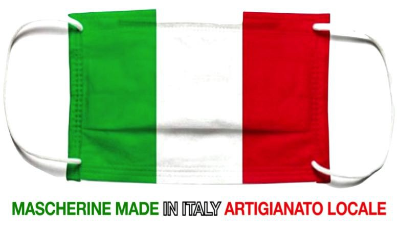 Mascherina bandiera italia - assisi