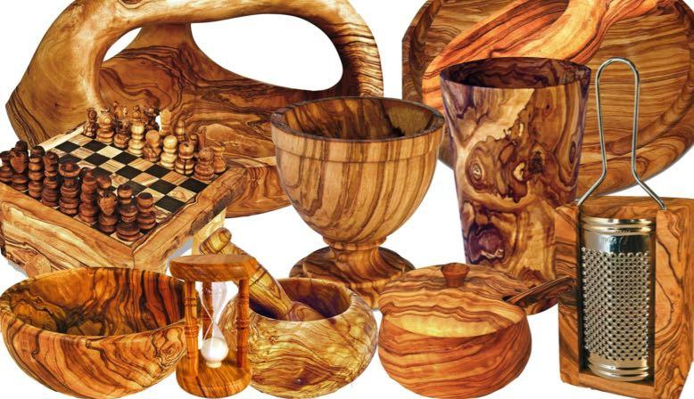 Artigianato in legno di olivo
